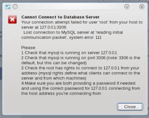 error koneksi MySQL Workbench ke server MySQL