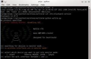 Wifite on Slackware-current