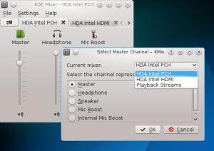 Konfigurasi Master Cannel HDA Intel PCH pada kmix