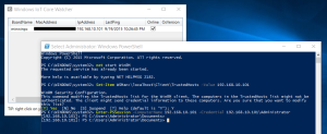 Hasil konek remote Windows 10 IoT Core via PowerShell